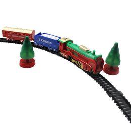 Discount plastic train track set - Newborn Baby Train Toys Kids DIY 12 Tracks Set for Children Musical Car Models Toys Child Birthday Gift Handmade Train V
