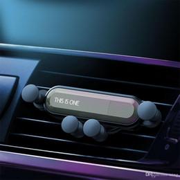 Supporto universale dell'automobile del telefono come titolare iPhone X XS Max Samsung Huawei Car Air Vent Mount Gravità porta cellulare di navigazione in Offerta