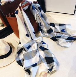 $enCountryForm.capitalKeyWord NZ - Top Brand Spring hearts Plaid Scarf For Women silk Shawl Plaid Blanket Scarf Designer brand Scarf Woman's Scarves and Wraps