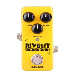 China NUX NCH-2 Rivulet Chorus Guitar Effect Pedal Buffered True Bypass Supports USB Musical Instruments Effects Guitar Accessories cheap true instrument suppliers