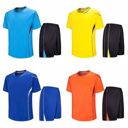 Clothing for sChool online shopping - Adult School Football Clothes Light Plate Group Buying Training Uniform Sports Suit Color Mix For Man In Summer ssH1