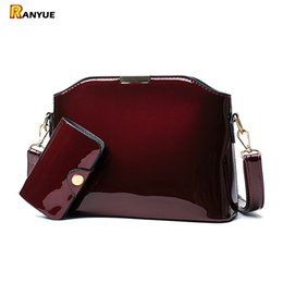 $enCountryForm.capitalKeyWord Canada - Blue Black Red Sequin Patent Leather Women Handbag Set Shell Bag Vintage Crossbody Women Messenger Bags Small Shoulder Bag Purse J190615