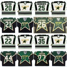 $enCountryForm.capitalKeyWord Australia - Dallas Stars Mens 20 ED BELFOUR 1990's 21 GUY CARBONNEAU 22 BRETT HULL 25 JOE NIEUWENDYK 35 ANDY MOOG Vintage Hockey Jerseys