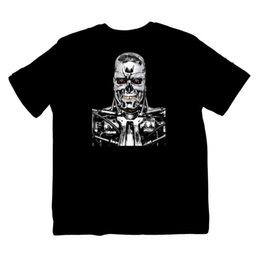 Blue movie dvd online shopping - T800 Skynet Terminator Genisys Robot Movie DVD Shirt Sizes S XXXL Colour print