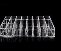 Plastic Compartment Storage Australia - 24-compartment slot cosmetic storage box transparent plastic jewelry organizer small lattice lipstick jewelry crystal storage box