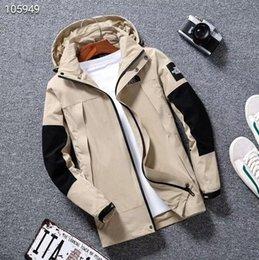 Erkek Tasarımcı ceket Harfler Ile Yeni Tasarımcı Kapüşonlu Ceket Rüzgarlık Fermuar Erkek Ceketler Erkekler Sportwear Için Hoodies L-5XL indirimde