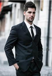 Brown Herringbone Suit Australia - Custom Made Black Slim Fit Men Wedding Suite Groom Tuxedos Suits Herringbone Retro Gentleman Suits Formal Party Suits