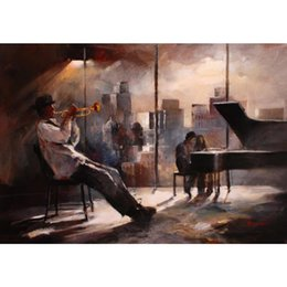 Landscape Painting Impressionist NZ - Hand painted oil paintings city Landscapes Music and skyline Willem Haenraets canvas art for wall decor