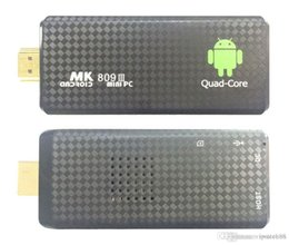 Discount high definition tv box 1PCS MK809 Quad Core TV Box Stick Media Player Google Android RK3229 2GB RAM 8GB HDMI Smart TV Dongle 1200+ live tv 1000