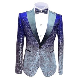 $enCountryForm.capitalKeyWord Australia - Aesido New Design Men's Suit Jacket Prom Tuxedos Bling Sequin Formal Dinner Party Blazer for Wedding Gooms 2020
