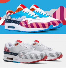 Genuine leather fabric yard online shopping - 2018 Netherland Designer Piet Parra x White Multi Rainbow Running Shoes for Men Women Craft Mars Yard TS Sports Sneakers Size