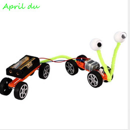 small plastic gears UK - Creative electric gear car science experiment assembling toy DIY technology small production