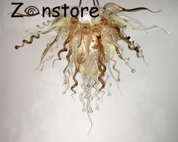 italy art UK - Italy Brown Chandelier -Art Decor Mouth Blown Glass Led Ce Ul 100 %Murano Glass Chandelier Lighting