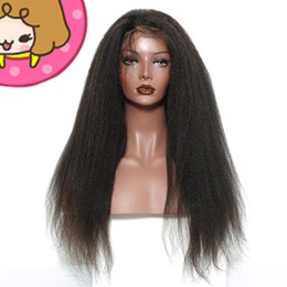 Pretty Hair For Australia - Pretty discount unprocessed remy virgin human hair long natural color yaki straight full lace cap top wig for lady