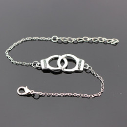 Handcuffs silver bracelets online shopping - Designer Handcuffs Punk Charm Bracelets Bangle for Women Silver Bracelets Chain Bangles Statement Jewelry Summer Style Gift DHL