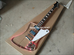 Light emitting diode Lamps online shopping - Acrylic crystal electric guitar fingerboard and acrylic body with light emitting diode lamp acrylic guitar chrome plated hardware