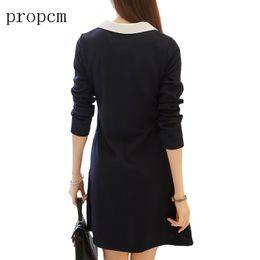 $enCountryForm.capitalKeyWord NZ - Propcm Brand 2017 New Fashion Women Dress Spring Long Sleeve Mini A Line Cute Girl Korean Plus Size Slim Dresses High Quality
