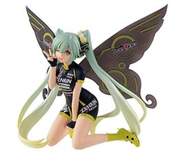 Racing miku figuRe online shopping - NEW hot cm Hatsune Miku butterfly Racing Action figure toys doll collection Christmas gift with