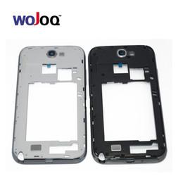 $enCountryForm.capitalKeyWord Australia - wholesale Original Mid Middle Frame Bezel Plate Housing Back cover For Samsung Note 2 N7100 Repair Parts