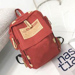 Folding Art Table Australia - Wholesale 2018 best seller New Canvas Backpack Retro Outdoor Backpack Fashionable Folding Student Bag Travel Bag Custom Logo