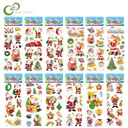 Children puffy stiCkers online shopping - Scrapbooking Bubble Puffy Stickers Merry Christmas Santa Claus Stickers Reward Kids Toys For Children Factory Direct Sales GYH
