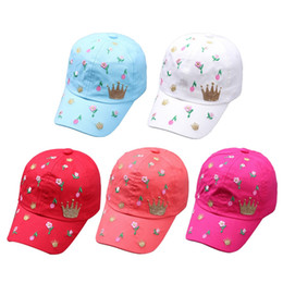 4d1362a9eb4 Fashion Floral Pattern Caps Baby Hat Children Baseball Caps For Boys Girls  Sun Hip Hop Spring Summer Autumn Hat For 0-2Y