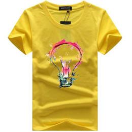 T Bulbs Australia - Mens T-shirts 2019 Summer Cotton Short Sleeve T Shirts Casual Tee Shirts Male T Shirt Homme Light Bulb 3d Print Mens T-shirt
