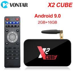 Black cuBe Box online shopping - New X2 Cube Android TV Box S905X2 DDR4 GB16GB G G Wifi BT Smart TV Box