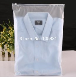red black grey shirts Canada - 100pcs 24x35cm Zip lock Zipper Top frosted plastic bags for clothing, T-Shirt , Skirt retail packaging customized logo printing