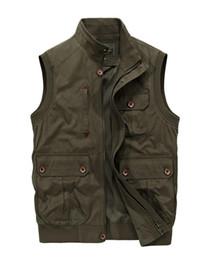 $enCountryForm.capitalKeyWord NZ - Men Multi-Pocket Classic Waistcoat Male Sleeveless Unloading Solid Coat Work Vest Photographer Tactical Jacket Drop shipping