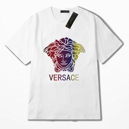 Discount new shirts brand name - 2019 new summer cotton men's T-shirt fashion short-sleeved famous letter printing men's shirt T-shirt brand-na