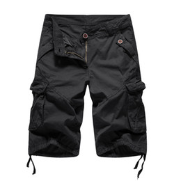 $enCountryForm.capitalKeyWord Australia - Cargo Shorts Men 2019 Summer Solid Army Military Shorts Homme 100% Cotton Soft Fashion Brand Clothing 30-40 Drop Shipping