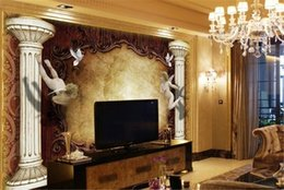 Discount insulation prices - Low Price For Wallpaper European Roman Column Angel TV Background Wall 3d Character Wallpaper Advanced Moisture Wallpape