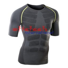 Flexible Gears Australia - by dhl or ems 100pcs Men Boy Tight Top Shirt Under Skin Quick Dry Compressed Breathable Flexible Long Sleeve Sport Gear Jerseys