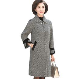 eae36a3f0ec Winter Wool Coat Women Plaid Long Thicker Cashmere Coats Womens New Fashion  Slim Woolen coats Plus size Femme overcoat 4XL A1103