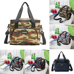 insulated picnic cooler bag Canada - lunch bag Polyester Portable lunch bag Insulated Cooler Camping Picnic Box Shoulder Thermal Double Layer 10Ll w621