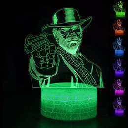 $enCountryForm.capitalKeyWord Australia - Red Dead Redemption 2 Game Arthur Morgan NightLight LED Lamp Sleep Light RDR2 Projection Lamp Kids Christmas Gifts