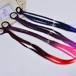 $enCountryForm.capitalKeyWord Australia - Wig Small Plait Hairband Colour Gradient Hairring High Temperature Filament Hair Accessories For Kids Girl Decorate 1 4mm N1