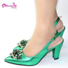 $enCountryForm.capitalKeyWord Australia - 2019 New women high heels sexy pumps peep toe party buckle strap high heels green ladies wedding sandals shoes
