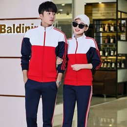 Lovers Cardigan Twinset Autumn Fund Men And Women Comfortable Outdoors Leisure Time Run Motion Suit on Sale