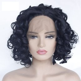$enCountryForm.capitalKeyWord Australia - short synthetic lace front wigs big curly synthetic black hair curly wave lace frontal simulation human hair wigs fast free shipping