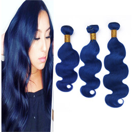 $enCountryForm.capitalKeyWord Australia - Blue Human Hair Extensions Body Wave Hair Bundles 3 Bundles Deals Body Wavy Peruvian Virgin Hair Wefts Cheap Price For Sale