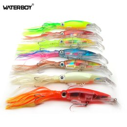 skirting lures NZ - WATERBOY Big Game Skirts Octopus Trolling Fishing lures 14cm 40g fishing Tackle 6 Colors Available Bionic Squid Bait