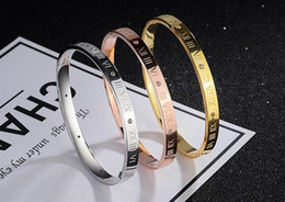 $enCountryForm.capitalKeyWord Australia - Fashion Roman Numeral Titanium Steel Bracelet Rose Gold Bangles Bracelets For Women Luxury Jewelry