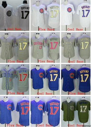 pullover baseball jerseys 2019 - Wholesale hot selling #17 BRYANT Flexbase Coolbase grey white blue pullover Baseball Jerseys men Shirt Stitched base Top