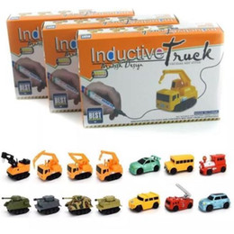 cars draw NZ - Inductive Car Line Follower Diecast Toys Car Truck Vehicle Magic Pen Toy Tank Truck Excavator Construct Follow Line You Draw
