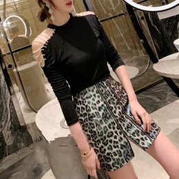 4b0b181c097a Off Shoulder Diamond Knitted Pullover Female Long Sleeve Thin Sweater For  Women Casual Korean 2019 Spring Fashion
