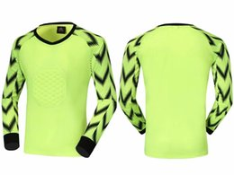 team soccer jersey set Canada - Adult soccer blank goalkeeper jersey long sleeve soccer sets kits goalkeeper customize team logo longsleeve goalie training shirts