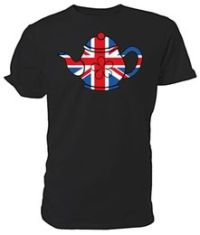 China Best of British Union Jack Teapot T shirt - Choice of size & colours. Funny free shipping Unisex Casual Tshirt cheap yellow teapots suppliers