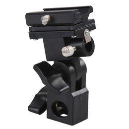 Shoe Umbrella Holder NZ - Cheap Sports Camcorder Cases Swivel Flash Hot Shoe Umbrella Holder Light Bracket Stand Mount Adapter For Studio Light Type B